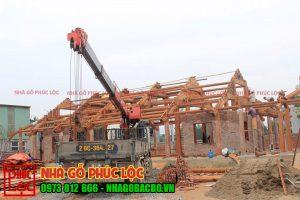 Công trình nhà gỗ lim 5 gian