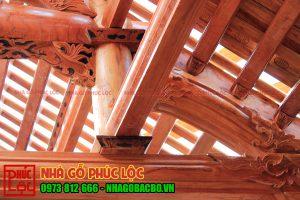 Công trình nhà gỗ xoan 3 gian